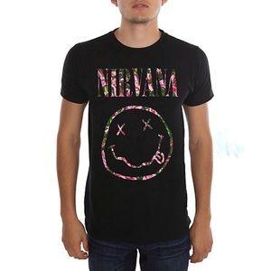 Nirvana Floral Smiley T-Shirt